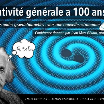 Conférence : Les ondes gravitationnelles